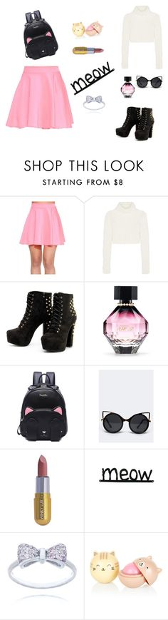 """meow"" by amra-memic ❤ liked on Polyvore featuring Roberto Cavalli, Victoria's Secret, ZooShoo and Winky Lux"