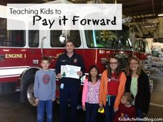 Great ideas for teaching kids to Pay it Forward