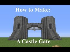 Minecraft - How to Build a Castle Gate - Fast and Easy - YouTube