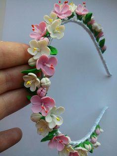 DIY clay flower headband
