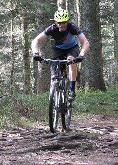 Mountain biking in the Black Forest near Herrenberg, Germany