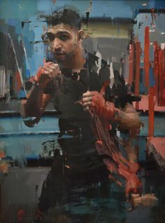 The boxer, Amir Khan, By Christian Hook winner of the Sky Arts Portrait Artist of the Year 2014 Painting People, Figure Painting, Painting & Drawing, Portraits, Portrait Art, Christian Hook, Sky Art, Life Drawing, Figurative Art