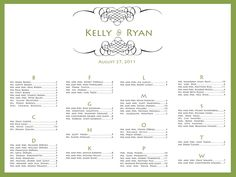 Wedding Seating Chart Printable PDF // Guest Seating Plan // Escort Card…