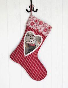 Nikolausstiefel Nr. 1  Shabby Chic Weihnachten von KleinesMau auf DaWanda.com