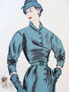 Patou Vogue Paris Original 1950s  http://fr.pinterest.com/adisavoiaditrev/