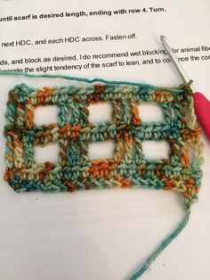 Ravelry: Project Gallery for Windowpane Scarf pattern by Adrienne Lash