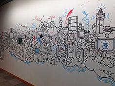 Facebook London Office Murals on Behance