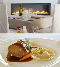 Hotel Can Simoneta | Boutique Hotel | Spain | http://lifestylehotels.net/en/can-simoneta | restaurant, food, dish, meat, dinner