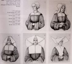Daughters of Charity - The evolutions of their habit Catholic School Girl, Nun Costume, Daughters Of Charity, Nuns Habits, Corporate Women, Bride Of Christ, Catholic Art, Priest, Monaco
