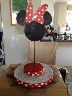 DIY Minnie Mouse cakepop/lollipop stand
