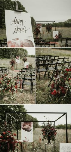 Unique and amazing ceremony details from this moody and burgundy Latvia wedding | Image by Miks Sels Photography