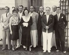 Charlie Chaplin with  Mary Pickford, Al Jolson, Gloria Swanson and Douglas Fairbanks
