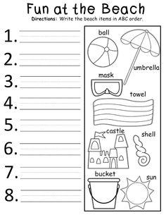 free summer alphabetical order worksheet worksheets activities