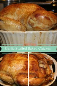 Garlic Stuffed Baked Chicken