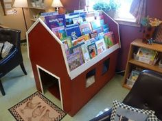 the cutest idea for a reading spot!