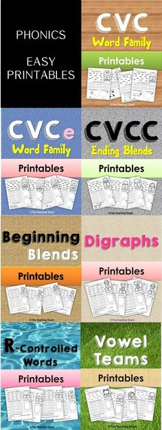Phonics Beginning Blends, Digraphs, R-controlled words, Vowel Teams (diphthongs) Teaching Phonics, Phonics Activities, Reading Activities, Physical Activities, Dyslexia Teaching, Therapy Activities, Phonics Words, Cvc Words, Phonics Rules