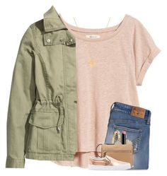 """almost fridayyy"" by madelinelurene ❤ liked on Polyvore featuring Madewell, Hollister Co., H&M, Kate Spade, BaubleBar, Kendra Scott, NYX and Vans"