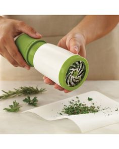 Save time chopping herbs >> Williams-Sonoma Microplane® Herb Mill from Williams-Sonoma | BHG.com Shop