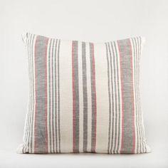 Gray/Red Herringbone Throw Pillow-worldmarket