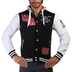 Geographical Norway - Allover Men black white 133423596ee