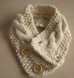 Knitting Pattern Cabled Neck Warmer by HomeMadeOriginals on Etsy, $5.50