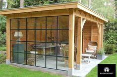 Afbeeldingsresultaat voor buitenverblijf glas tuin