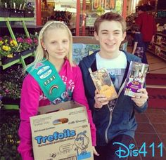 Disney Stars Visit Alexi Rob's Girl Scout Cookie Stand February 17, 2013
