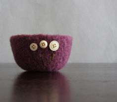 fuzzy felted bowl