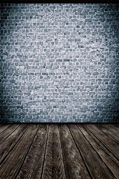 Aaloolaa Photo Backdrop Photography Background Grey Brick...