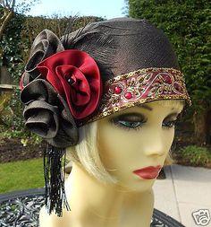 Women S Fashion Stores Queenstown 1920s Headpiece, Headdress, Bandana, 1920s Hats, Gatsby Hat, Flapper Hat, Pamela, Fancy Hats, Love Hat