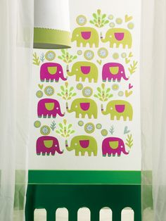 KIDS ROOM: WALL DECOR ~~ Elephants Wall Decals by Wallies at Gilt