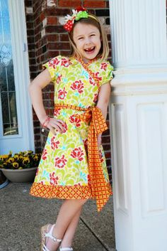 Easter Dress Sewing-- Macy Sewing Pattern by Children's Corner... Heather Bailey Fabric..