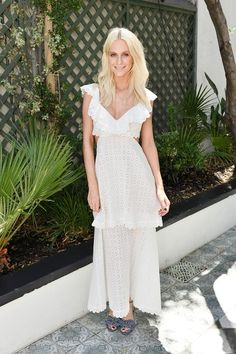 Poppy Delevingne proves this white dress is all you need this summer