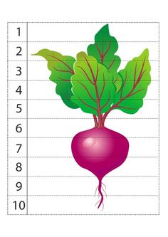 Farm Activities, Writing Activities, Toddler Activities, Counting Puzzles, Maths Puzzles, Fruits And Veggies, Vegetables, Printable Puzzles, Drawing Skills