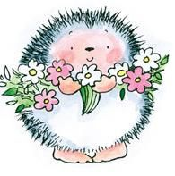 *Penny Black Rubber Stamp...she always has such cute hedgehog stuff!!!