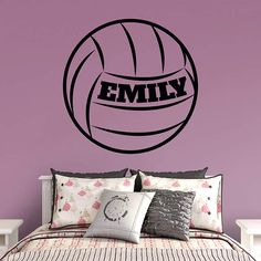 volleyball personalized name - Volleyball Bedroom Decor