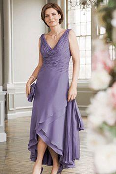 tea length mother of bride dresses