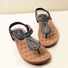 Fashion Rhinestones Comfortable Thong Sandals