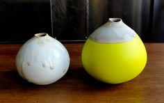 Medium Neon Bud Vase by awhandmade on Etsy. $25.00 USD, via Etsy. Still loving yellow...