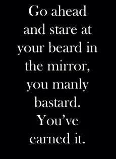 manly, beard , bearded, mirror, beard humor. mans man.