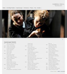 Webdesign für die Opernregisseurin Gabriele Rech - hier die Startseite/Homepage: http://gabriele-rech.de/index.php?de_vita. Weitere Info zum Webdesign: http://eyelikeit.com/index.php?de_gabriele-rech-regisseurin