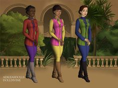 The Morlerton Junction Gang: Brianne (In Red),Dolores (In Pink) and Jessica (In Green)