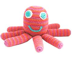 Knitted baby toys - hand knitted in fair trade
