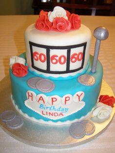 60th birthday cakes   60th Birthday Slot Machine - Cakes by Tammi