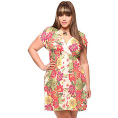Forever21 Plus Size Red Floral Dress