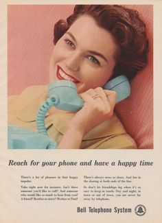 1959 Bell Telephone System Ad Vintage Advertising by AdVintageCom