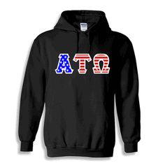 Alpha Tau Omega Greek Letter American Flag Hoodie