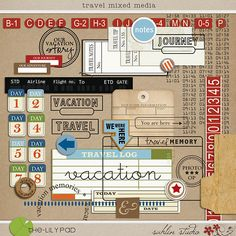 The Lilypad :: ELEMENT PACKS :: WORDART :: Travel Mixed Media by Sahlin Studio