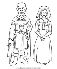 Dibujos para colorear - Edad Media Medieval Art, Medieval Fantasy, Castles Topic, Castle Crafts, Renaissance Costume, Chivalry, Middle Ages, Fun Projects, Coloring Pages