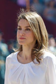 Princess Letizia - Spanish Royals Attend a Military Event in Zaragoza
